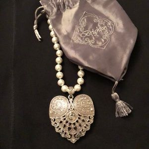 Brighton Heart and Pearl Necklace